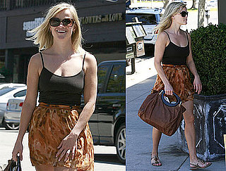 Pictures of Reese Witherspoon Wearing Skirt in LA