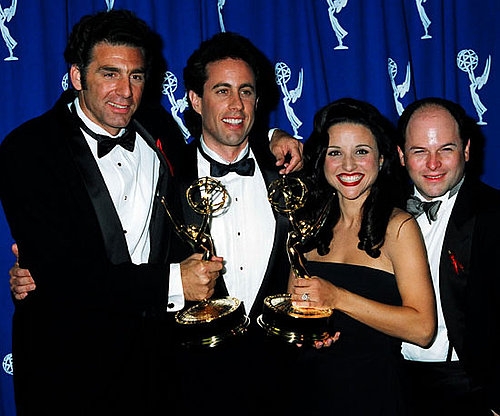 The cast of Seinfeld celebrated their 1993 outstanding comedy series win together.