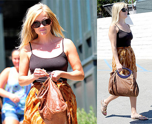 Pictures of Reese Witherspoon In A Vest Top and Short Skirt in LA