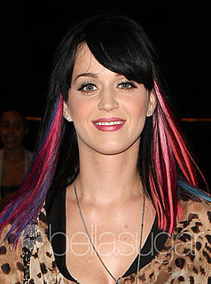 Katy Perry With Multicolored Hair Extensions