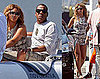 Pictures of Beyonce Knowles and Jay-Z Saying Goodbye to a Nice Vacation as They Ready For the VMAs