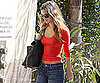 Slide Picture of Rachel Bilson Baring Belly in LA