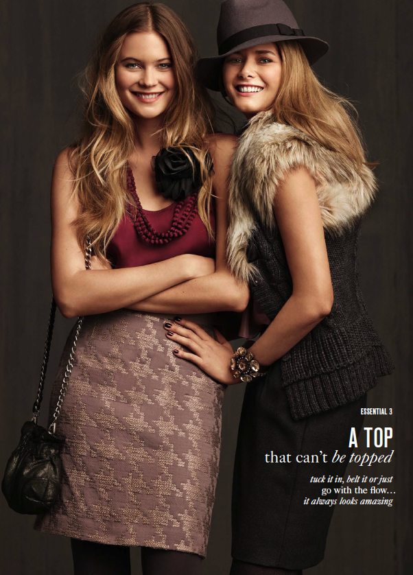 Chanel Iman and Behati Prinsloo Pose For LOFT's Fall Catalogue