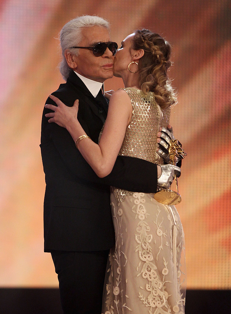 Their closeness is obvious in this embrace at the Golden Kamera Awards in Germany in 2010.