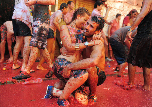 Pictures From La Tomatina Festival in Bunol, Spain