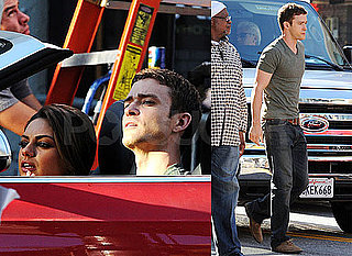 Pictures of Justin Timberlake and Mila Kunis Filming Friends With Benefits in LA