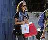 Slide Picture of Jessica Alba Leaving Photo Shoot in LA