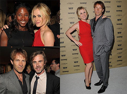 Pictures of True Blood's Anna Paquin and Stephen Moyer at a Pre-Emmy Bash