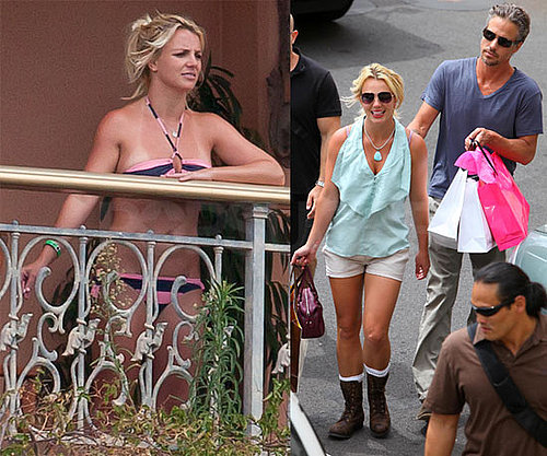 Pictures of Bikini Britney Spears and Jason Trawick Shopping in Maui