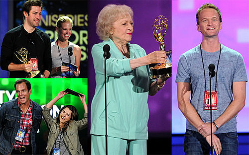 Pictures of Betty White, John Krasinski and January Jones Rehearsing Prior to the Primetime Emmy Awards