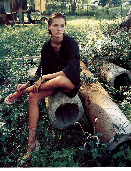 "Carmen Kass in ""Jamaique Safari"", Vogue Paris June/July 2011"