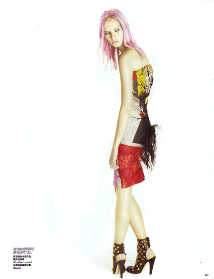 "Cato van Ee in ""Pretty in Punk,"" Vogue China Sept. 2008"