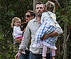 Slide Picture of Jennifer Garner and Ben Afflek With Violet and Seraphina in LA