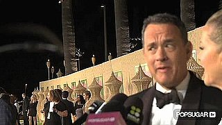 Video of Tom Hanks Talking About Sandra Bullock at the HBO Emmys Afterparty