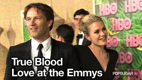 Video of Alexander Skarsgard, Stephen Moyer, and Anna Paquin at the Emmys and Afterparty