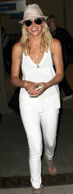 LeAnn Rimes Seen Wearing All White at LAX
