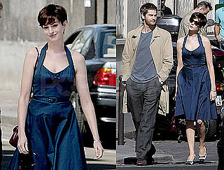 Pictures of Anne Hathaway With Short Hair With Jim Sturgess in Paris