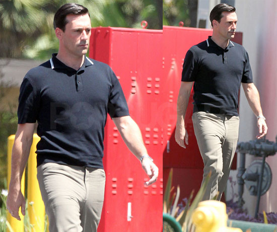 Pictures of Jon Hamm on Set of Mad Men