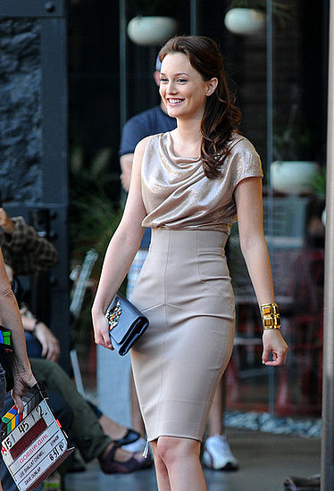 &quot;Gossip Girl&quot; gets fashionable outside the Standard Hotel.
