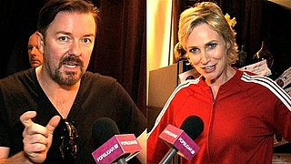 Video of Jane Lynch and Ricky Gervais Sharing Career Highlights