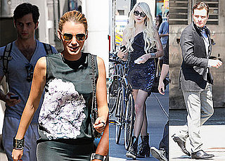Pictures of Ed Westwick, Blake Lively, and Penn Badgley on the Set of Gossip Girl in NYC