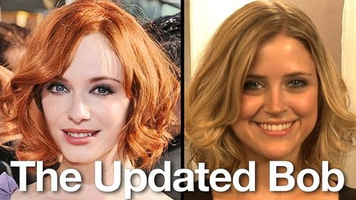 How to Get Christina Hendricks Emmys Hairstyle: Updated Bob 2010-09-01 10:45:36