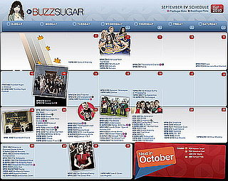 Sugar Shout Out: Get Ready For Fall TV With Buzz's Printable Premiere Calendar!