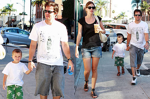 Pictures of Mark Wahlberg, Rhea Durham, and Their Son Michael in Beverly Hills