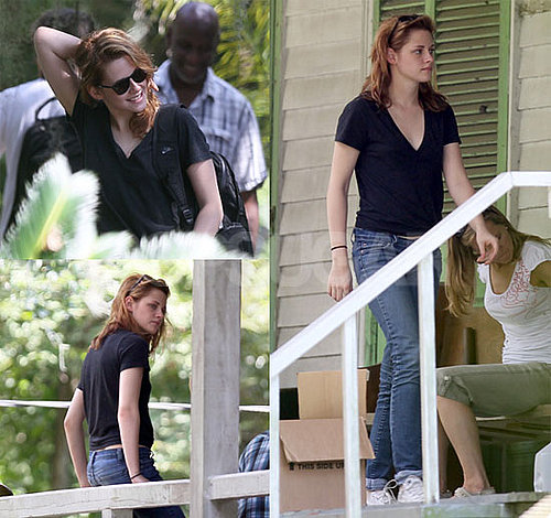 Pictures of Kristen Stewart in New Orleans Filming On The Road