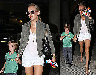Pictures of Kate Hudson and Her Main Man Ryder Robinson Arriving at LAX