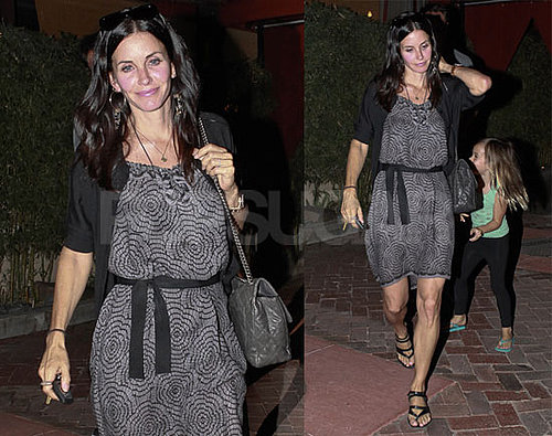 Courteney Cox Gets a Jump On the Weekend With a Dinner Date