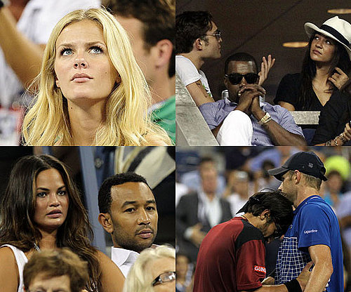 Pictures of Brooklyn Decker, Andy Roddick Losing at US Open With Kanye West, Usher, Ed Westwick and More