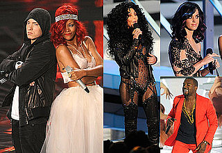 Pictures of Eminem, Usher, Mary J Blige, Rihanna, Lady Gaga, Taylor Swift During 2010 MTV VMAs Show