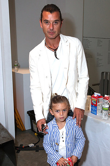 Gavin Rossdale and son Kingston Rossdale attend the Edun Spring 2011 fashion Show in NYC