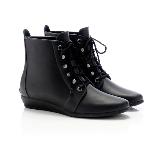 Rain Bootie in Black, $165