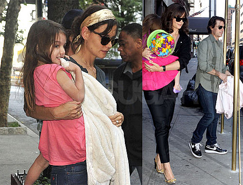 Pictures of Katie Holmes and Tom Cruise With Suri Cruise and Isabella Cruise in NYC