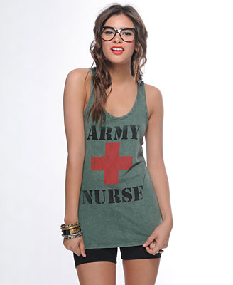 Forever 21 Faded Army Nurse Tank ($16)