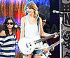 Slide Picture of Taylor Swift Practicing on Stage in New Orleans
