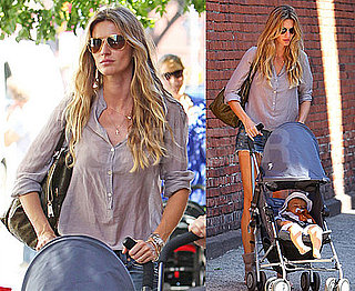 Pictures of Gisele Bundchen in Short Shorts Out With Baby Ben in NYC