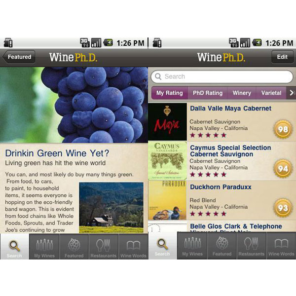 Wine Ph.D (free for Android, $5 for iPhone)