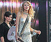 Slide Picture of Taylor Swift Holding a Pink Guitar and Playing in New Orleans