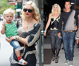 Pictures of Gwen Stefani on a Date With Gavin Rossdale and Sharing a Cab With Zuma Rossdale in NYC
