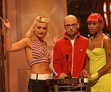 """Let Me Blow Your Mind"" collaborators Gwen Stefani and Eve presented with Moby in 2001."
