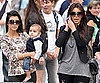 Slide Picture of Kourtney and Kim Kardashian With Mason Disick in NYC