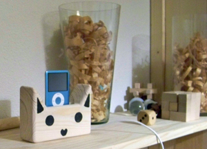 Wooden Cat Docking Station From Etsy
