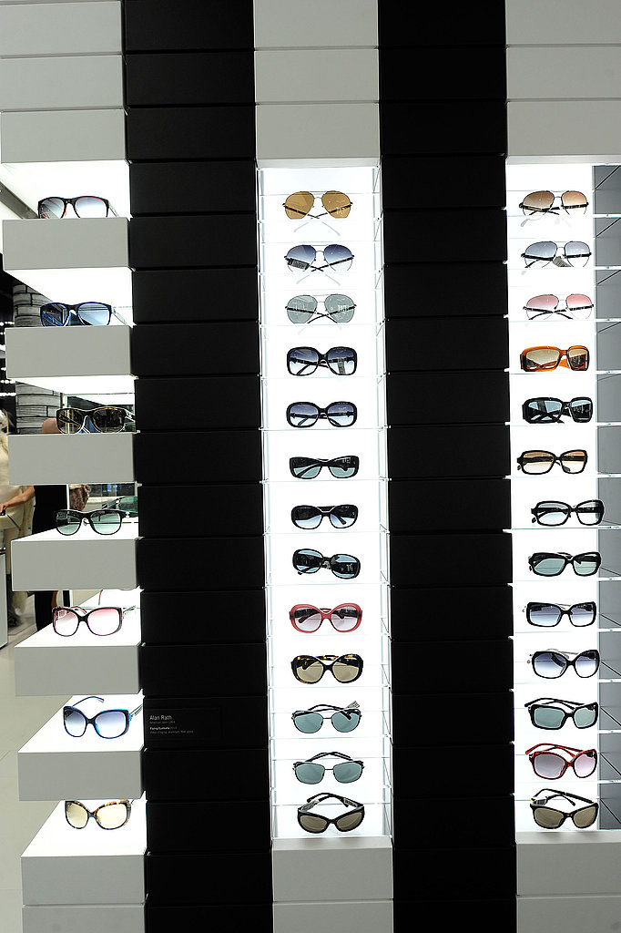A wall of Chanel shades to try.