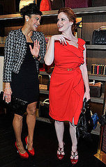 Christina Hendricks and Paula Patton attend The Carolina Herrera New York Store Opening on Fashion's Night Out