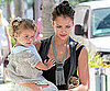 Slide Picture of Jessica Alba and Honor at Lunch in LA