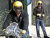 Pictures of Brad Pitt After a Motorcycle Mishap in LA