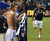 Shirtless David Beckham at LA Galaxy's Match Against Columbus Crew